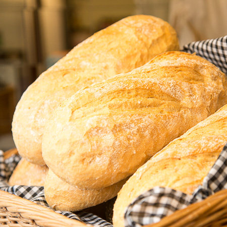 Fresh bread baked daily